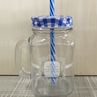 2017 New Unique Transparent Mason Jar Mug Jars Glass Water Bottle Cups Summer Cold Drinking Mugs