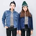 56532b0677f08 Jean Jacket Women 2015 Casual Fashion Boyfriends Frayed Hole Blue Denim  Jacket Coat casaco feminino jaqueta feminina C16 US   29.99 piece