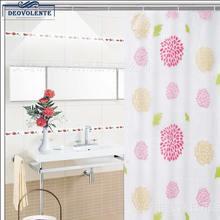 Sunflower Shower Curtain Waterproof Mould High Quality PEVA With Hook Flower Pattern Bathroom Luxury Bath