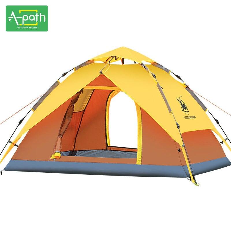 Tente de voyage en plein air Camping Tente automatique 4 personnes plage Gazeb auvent pliant chapiteau moustiquaire tentes d'hiver chine unique