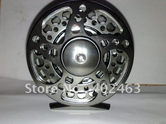 High quality aluminum alloy processing # 7/8  95mm Gunsmoke color  CNC  FLY Fishing  Reels  2+1RB