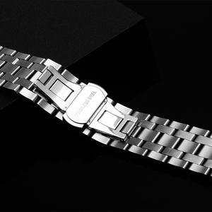 Image 3 - PEIYI watchband 19mm replacement metal bracelet silver stainless steel strap mens and female watch chain for Tissot T065