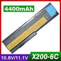 4400mAh laptop battery for LENOVO ThinkPad X200 7454 7455 7458 X200s 7465 X200si X201 X201-3323 X201i X201s 42T4837 42T4649