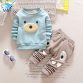 M&F Autumn Winter Baby Clothing Sets Cartoon Warm Sweatshirts T-shirts+Casual Pants Boys Kids 2pcs Clothes Suits For Infant Girl