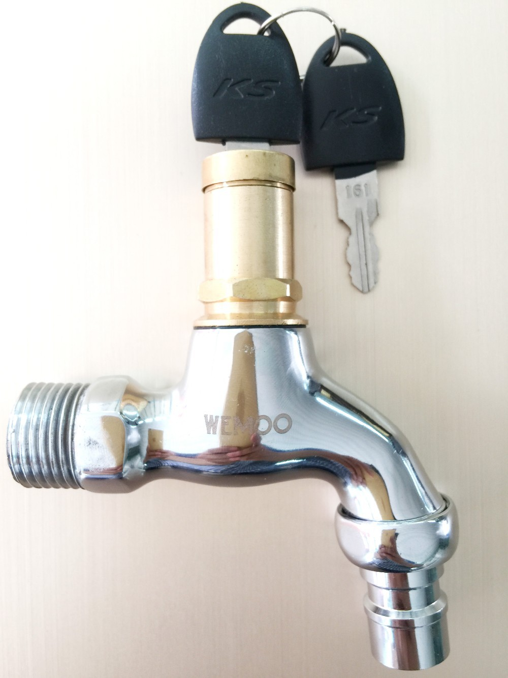 2015 HIgh Quality 1/2 inch Brass Bibcocks With Lock Faucet Basin ...