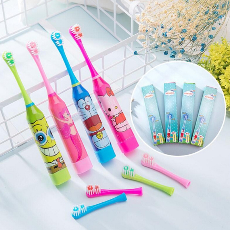 Boxed Electric Toothbrush Children's Sound Cartoon Sends a Toothbrush Head Factory Direct Gift Square image