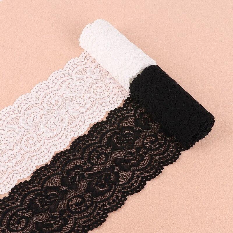 2 Yards 10cm Super Wide White/Black Pierced Lace Fabric Trim Ribbons DIY Sewing Garment Wedding Decoration Accessories Supplies