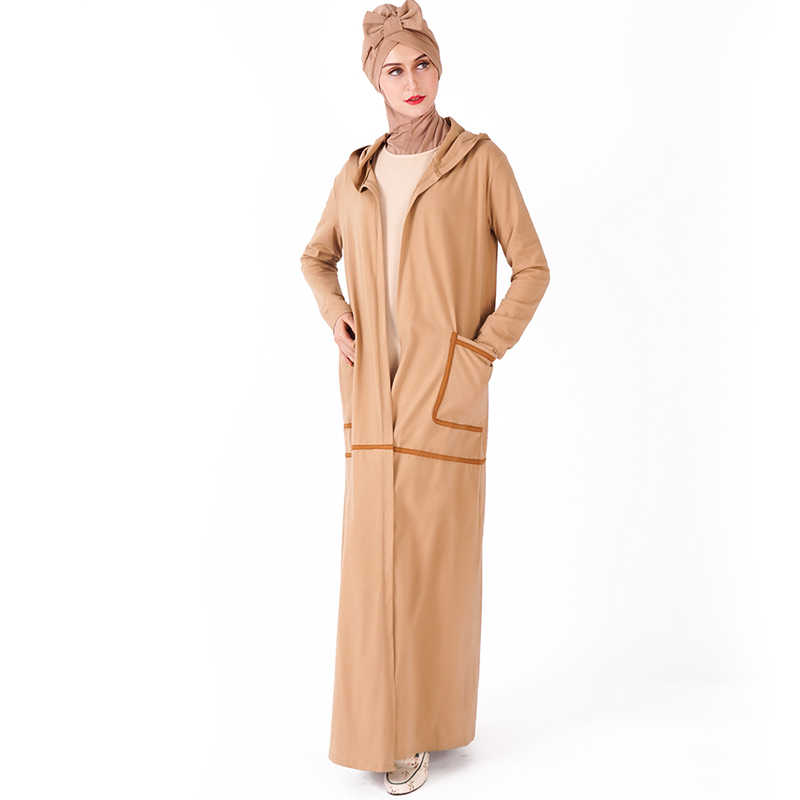 Спортивная открытая абайя Турция Дубай кимоно мусульманский хиджаб платье джилбаб Кафтан Абая для женщин Кафтан Исламская одежда Рамадан эльбисе
