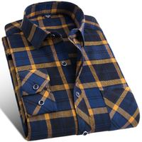 High Quality Brand Clothing Fall And Winter Of The New Grid Long Sleeve Shirt Fashion Leisure