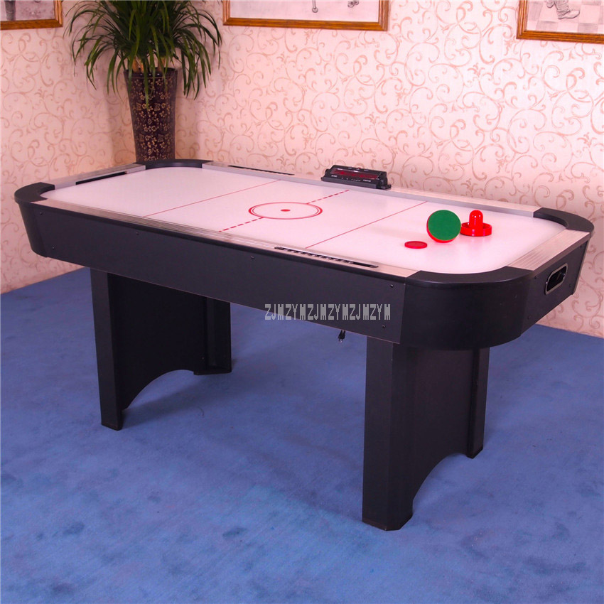6 Feet Air Hockey Table Indoor Competition Sport Game Play Equipment With Score Indicator 4Pcs Pucks 4PCS Pusher Grip WH6001