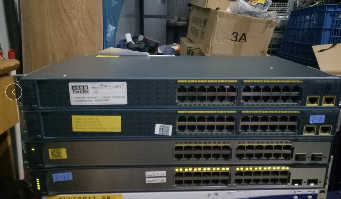 Used WS-C2918-24TT-C Layer 2 Management Switch