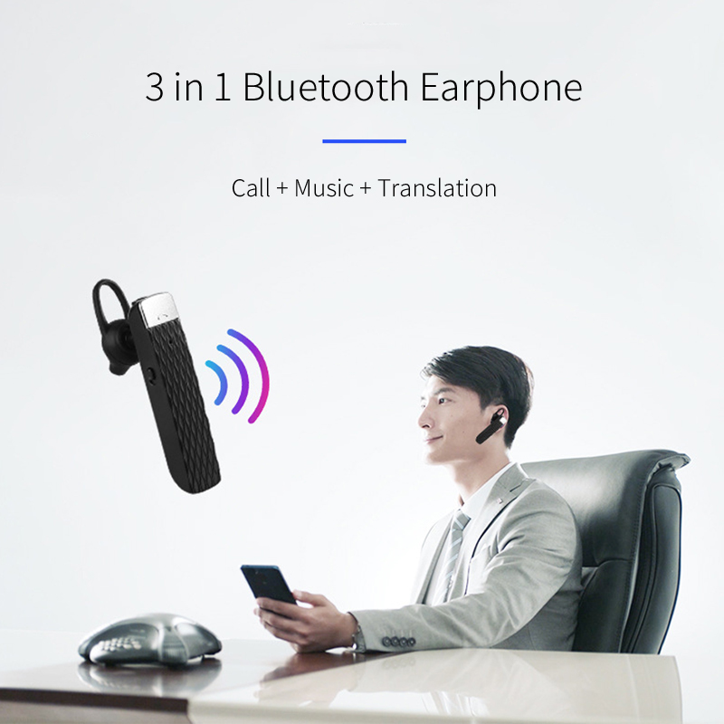Image 5 - OUSU 33 Languages Free Charger Translator Earphone Bluetooth 5.0 Wireless Earphones TWS Earpiece hifi Bass Earbuds auriculares-in Bluetooth Earphones & Headphones from Consumer Electronics