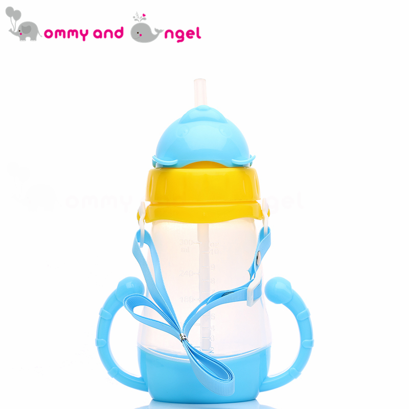 MOMMY AND ANGEL Calssic Boy&Girl Closer to Nature Fiesta Bottle Sippy Cup for Kid Straw Feeding Bottle (2 Colour,300ml,ABE/8094)