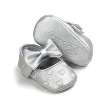 2017 leather infant baby shoes girls with princess cute style 0~18 month free shipping bx305