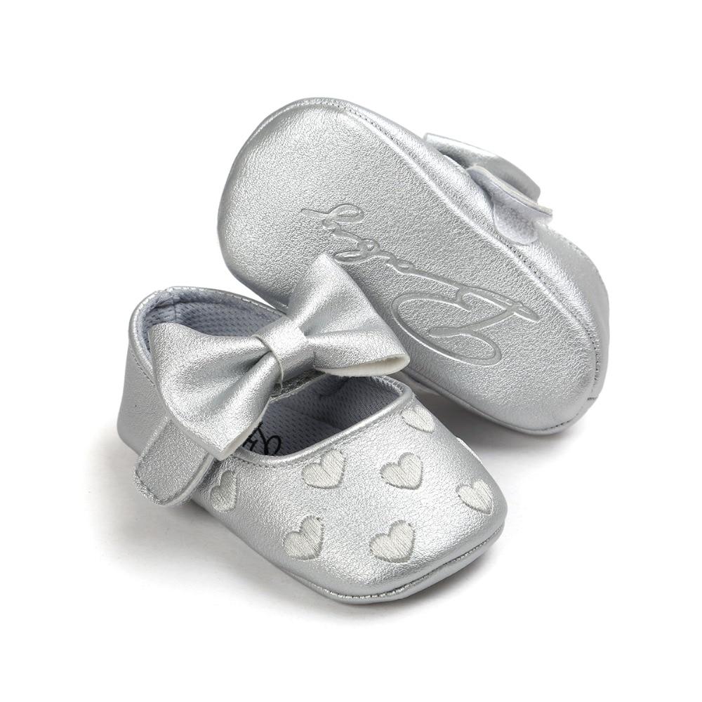 2017 lederen baby baby schoenen meisjes met prinses schattige stijl 0 - Baby schoentjes