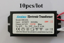 10pcs/ High quality 160W Electronic Transformer 220V - 12V LED Halogen Light Bulb Lamp Power Driver Supply good performance
