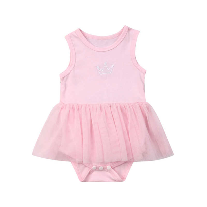 2019 New Summer Kids Clothes Toddler Baby Girl Bodysuit Lace Ruffle Sleeveless Solid Baby Outfits Jumpsuit Casual Girls Playsuit