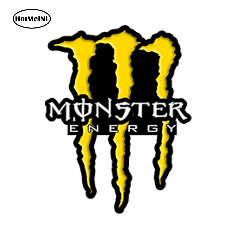 HotMeiNi Car Styling Car Sticker Vinyle Autocollants Stickers Auto Moto MONSTER Sponsor Voiture Rossi 13cm x 10cm