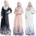 2016 Oferta Especial Para Adultos Poliéster Paño Túnica Musulmana de 2017 Nueva Impresión Vestido de Ropa de Las Mujeres de Las Minorías Musulmanas Abaya de Las Mujeres