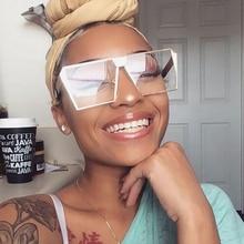 RBUDDY Classic oversize Square Sunglasses women Brand Design Clear Lens Gold Big Frame Female Gradient Sun glasses gafas sol