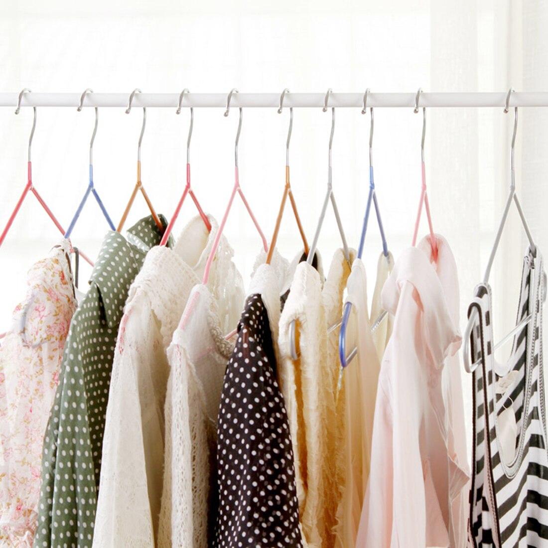 10pcs Clothes Storage Organizer Non-Slip Metal Shirt Trouser Coat Clothes Hook Hangers Dry Rack Bathroom decorative shelf