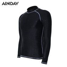 M - 4XL Waterproof Quick Dry Men Long Sleeves Sun Protection Clothing Women Diving Swimsuits Snorkeling Surfing Suits(China)