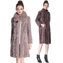 Real Mink fur coats womens genuine imported fashion Lady coat natural mink fur coat Mink coats Real Pictures