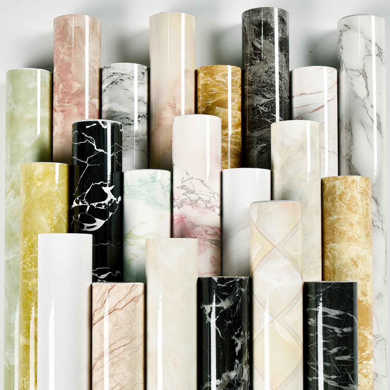 80cm Kitchen Oil Stickers Self-adhesive Marble Pattern Waterproof Cabinet Stove Countertop Wallpaper Desktop Bathroom Renovation