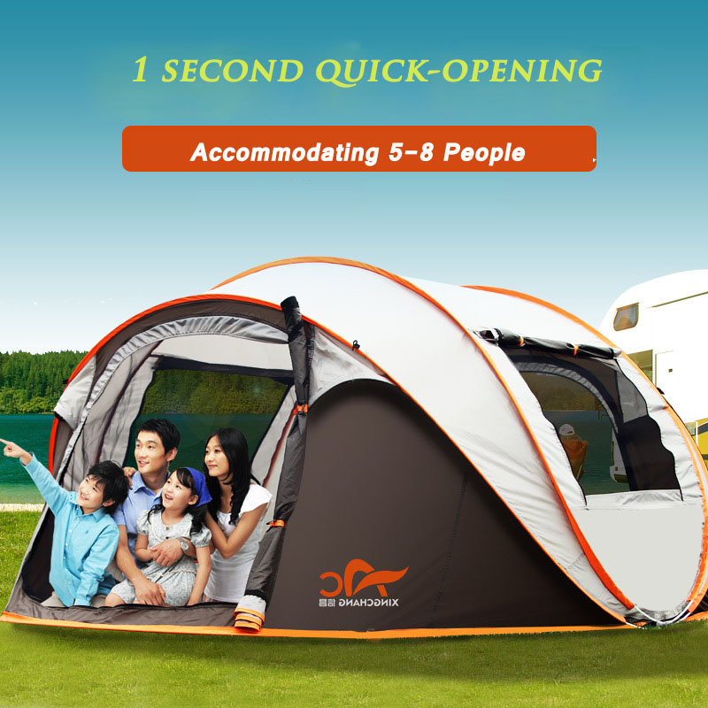 5-6 Persons Fishing Tent Outdoor Camping Hiking Beach Summer Sun Shelter UV Protection Fully Sun Shade Quick Automatic Opening 1x 200 200 160cm summer outdoor camping sun shelter uv protection beach shade fishing tent portable roof tent for swimming boat