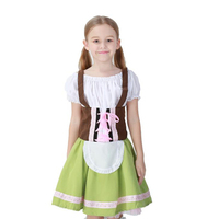 Boy Girl German Oktoberfest Beer Costume Dirndl Heidi Kids Cosplay Fancy Dress Halloween Fantasia Party Clothes