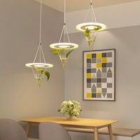 Restaurant Plant led chandelier modern minimalist Nordic creative personality living room lamp bar table dining room Chandelier