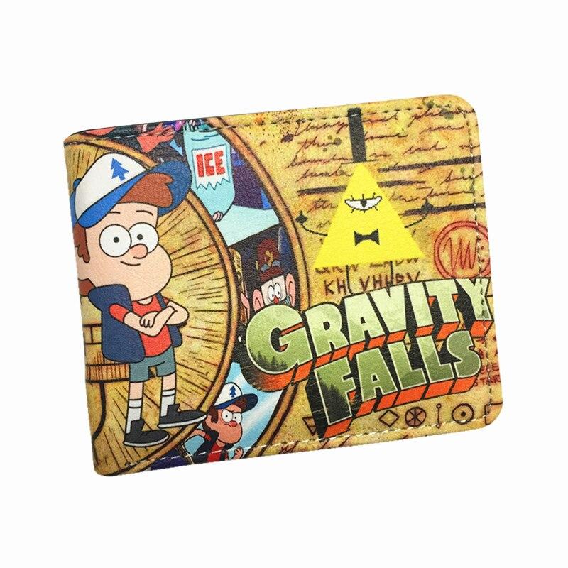 Cartoon Wallet Money-Bag Bill Cipher Gravity Falls Teenager 2-Fold Cute for Boy Girls