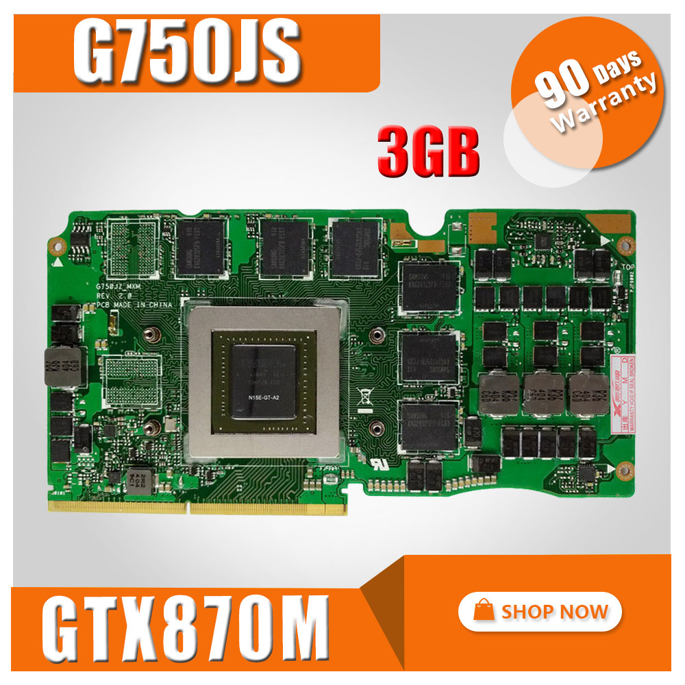 92ac39c38 For Asus ROG G750J laptop card G750Js N15E-GT-A2 G750JZ GTX870M GTX 870M  3GB VGA Graphic card Video card 60NB0180-VG1040. 8363.69 руб.