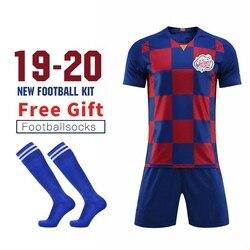 MESSIII DIY Soccer Jerseys Customize Men's Football Uniform Kits Boys Girl Short Sleeve Kids Children Football Team Training Set