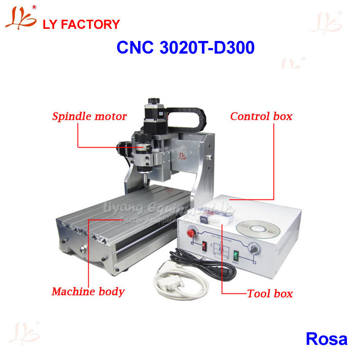 Very Cheap MINI CNC Milling Machine LY 3020T-D300 with 300W Spindle Motor Very Small Noise ly cnc router 3020 z d 500w spindle engraving machine with the limit switch small mini cnc milling machine