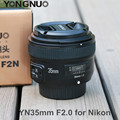 YONGNUO YN35mm F2.0 F2N Lens Wide-Angle 1:2 AF/MF Fixed/Prime Auto Focus Lens for Nikon D3300 D3200 D7100 D5100 DSLR camera