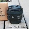 YONGNUO YN35mm F2N F2.0 Объектив Широкоугольный 1:2 AF/MF Фиксированной/Премьер-Автофокус Объектива для Nikon D3300 D3200 D7100 D5100 DSLR камеры