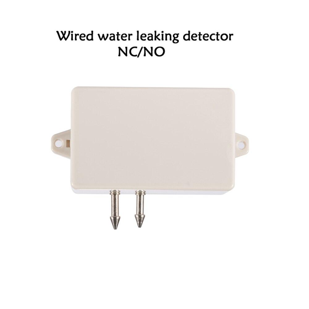 Nový nástěnný drátový detektor vody Snímač úniku kapaliny NC / NO reléový výstupní signál Výstup strojovny Bezpečnostní alarm skladu