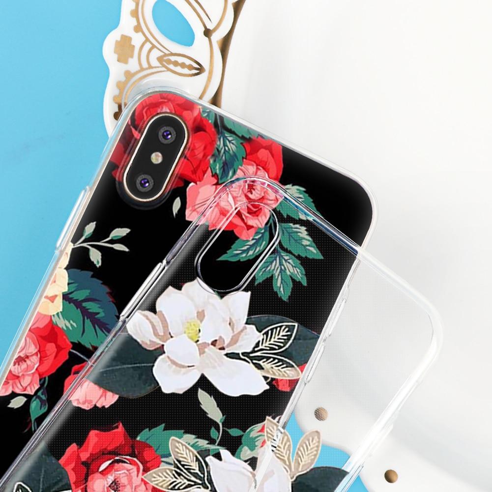 Цветок чехол для iPhone X 5 5S SE 6 6 S 7 плюс 8 для Samsung Galaxy S5 <font><b>S6</b></font> S7 край S8 плюс J3 J5 J7 A3 A5 2016 2017 Примечание 8 премьер