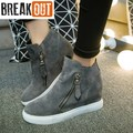 2016 New Fashion Women Shoes Casual Shoes for Women Flats High Top Zip Breathable Women Boots