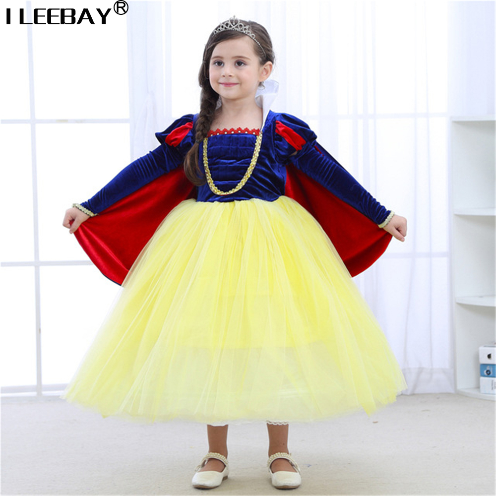 New Fashion Children Fancy Snow White Dress For Girls Party Dresses Easter Carnival Costume Kids Princess Costume Girl Clothing red baby girl dress princess christmas dresses for girl events party wear tutu kids carnival costume girls children clothing