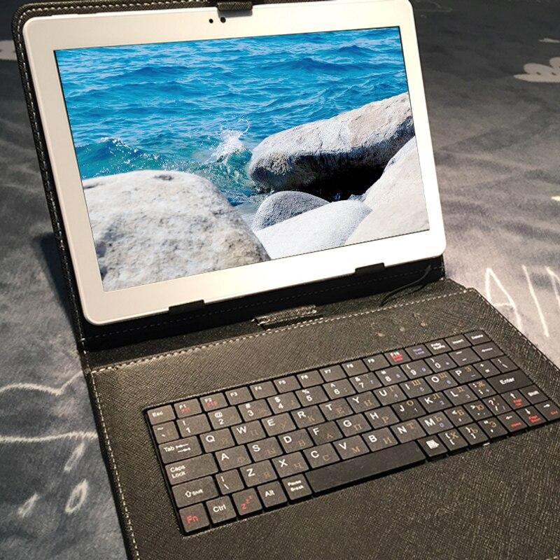 10.1 pollice originale 3g del telefono mobile 10 core Android smart tablet 128 gb di ROM dual SIM card Google WIFI tablet tastiera regalo di trasporto