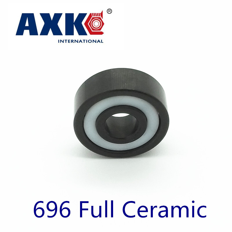 2018 Rolamentos Axk 696 Full Ceramic Bearing ( 1 Pc ) 6*15*5 Mm Si3n4 Material 696ce All Silicon Nitride 619/6 Ball Bearings цена