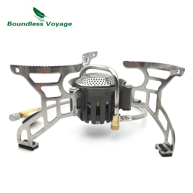 Boundless Voyage Gas Stove Camping Stove For Outdoor Cooking Portable Lightweight Big Power Aluminum Alloy BV1007 boundless voyage gas stove camping stove for outdoor cooking portable lightweight big power aluminum alloy bv1007