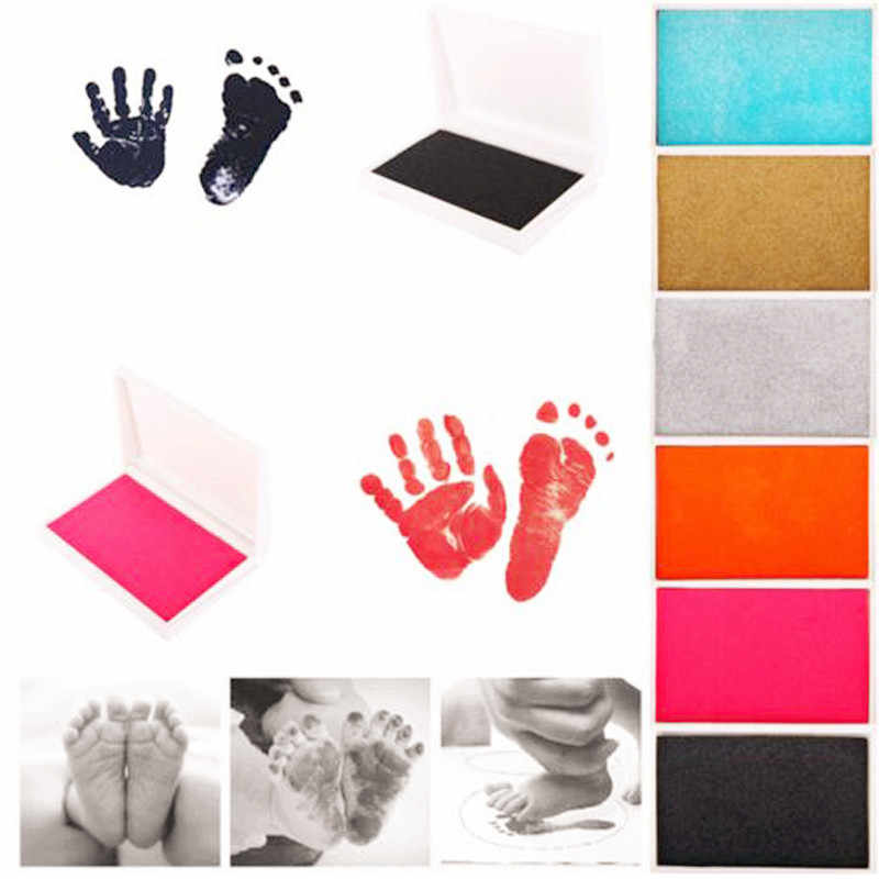 1 PC Baby Handprint Footprint Kit Paw พิมพ์ Pad กรอบรูป Touch Pad รายการเด็กของขวัญทารกแรกเกิดของที่ระลึกหล่อหมึก Pad