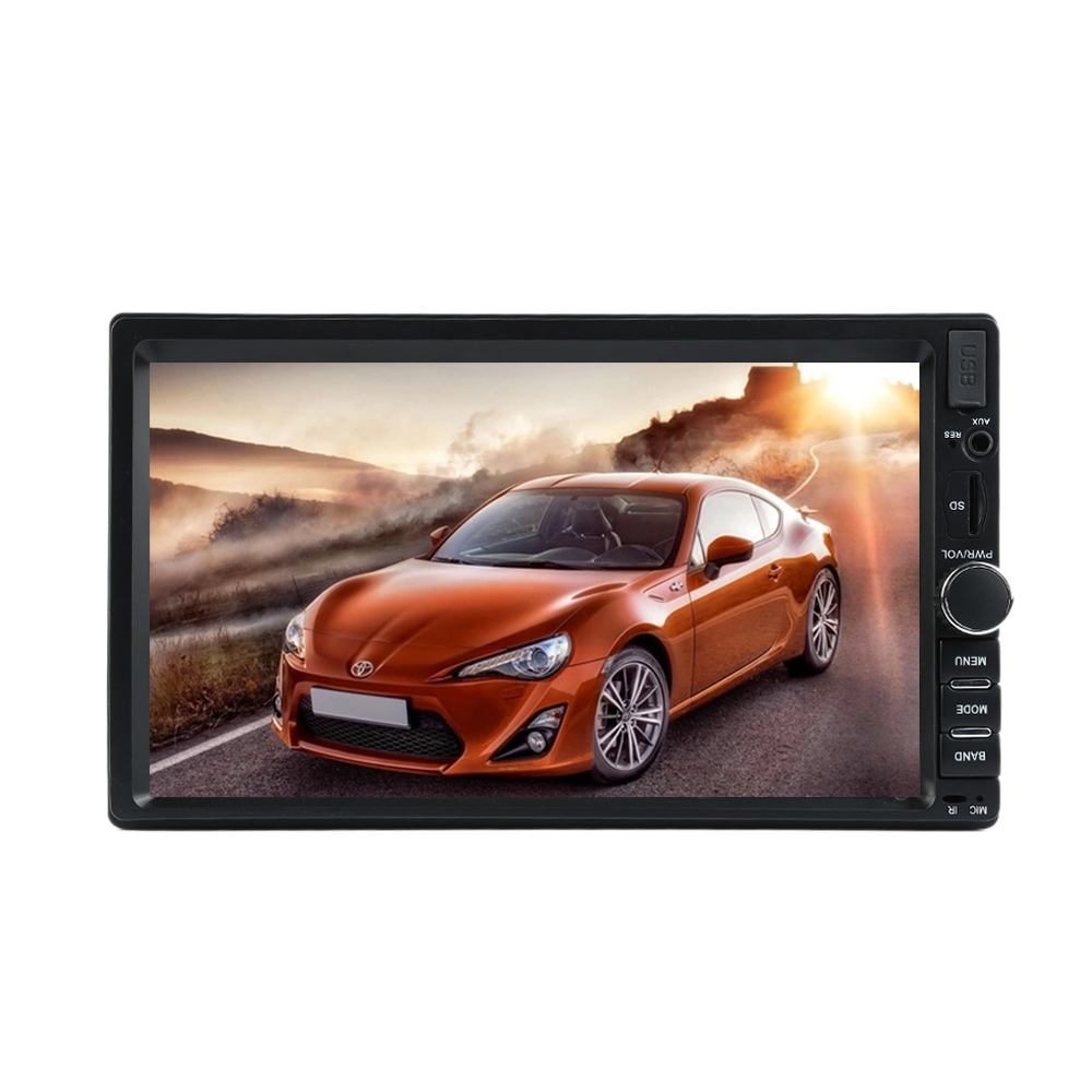 7 inch Car 12V Touch Screen GPS FM USB Radio Audio Stereo MP5 Player 2 Din Rearview Monitor Bluetooth +Remote Control 7 hd bluetooth touch screen car gps stereo radio 2 din fm mp5 mp3 usb aux z825