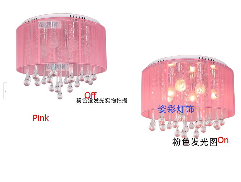 pink crystal lamp