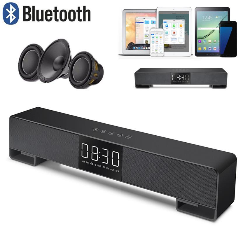 Binmer Portable Audio Video Speakers FM Portable Bluetooth Speaker Wireless Stereo Loud Super Bass Sound Aux USB TF dec22