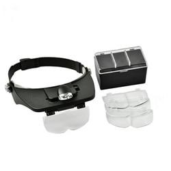 1 unid alta calidad lupa para apicultura equipo montado en la cabeza múltiples espejo de aumento