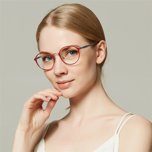 Ibboll Vintage Transparent Eye Glasses Frames For Women Steampunk